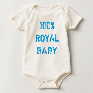 100% ROYAL BABY BABY BODYSUIT