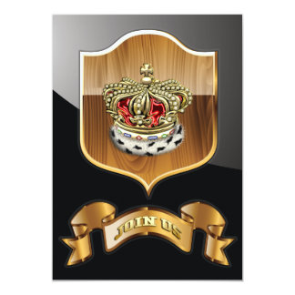 [100] Royal Crown [Fur+Gold][Red] Card