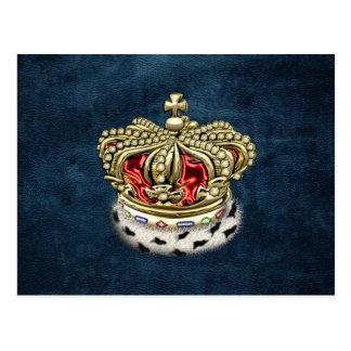 [100] Royal Crown [Fur+Gold][Red] Postcards