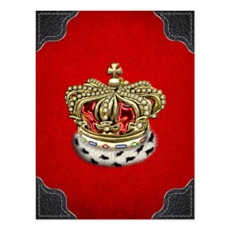 [100] Royal Crown [Fur+Gold][Red] Post Card