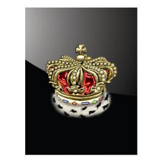 [100] Royal Crown [Fur+Gold][Red] Postcard