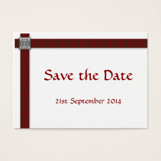 100 Royal Stewart Tartan Save the Date Cards