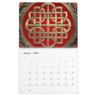 [100] Sacred Celtic Gold Knot Cross Calendar
