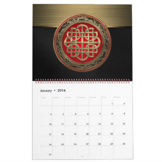 [100] Sacred Celtic Gold Knot Cross Calendar