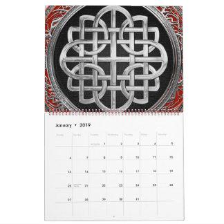 [100] Sacred Celtic Silver Knot Cross Calendar