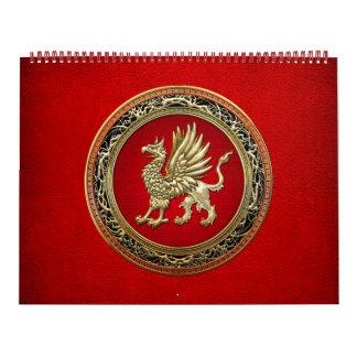 [100] Sacred Gold Griffin Calendar