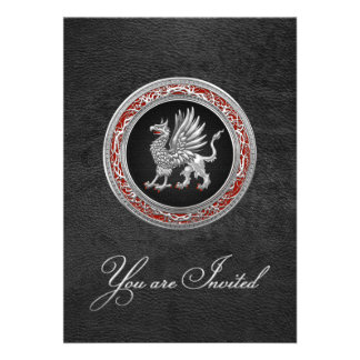 [100] Sacred Silver Griffin Custom Invite