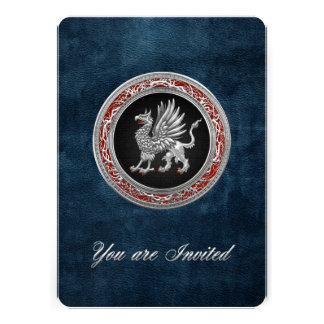 [100] Sacred Silver Griffin Custom Invitation