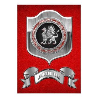 [100] Sacred Silver Griffin Invitation