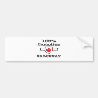 100% Saguenay Bumper Sticker