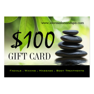 100 - Salon Gift Card Large Business Cards (Pack Of 100)
