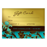/100 Salon Gift Card Spa Gold Floral BB Business Card Template