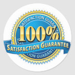 100% Satisfaction Guarantee Stickers
