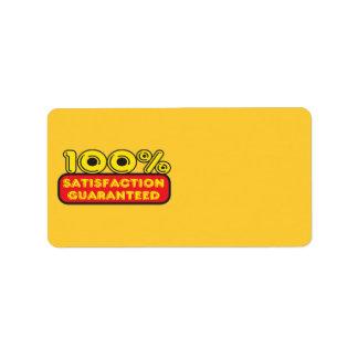 100% Satisfaction Guaranteed Address Label