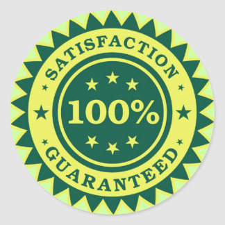100% Satisfaction Guaranteed Sticker