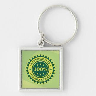 100% Satisfaction Guaranteed Sticker Keychain