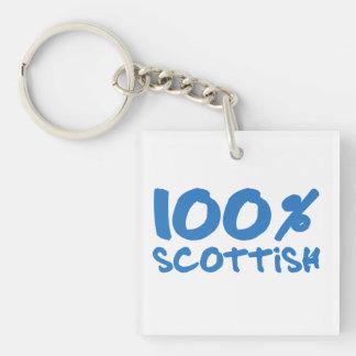 100% Scottish Keychain