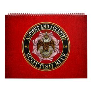 [100] Scottish Rite Double-headed Eagle Calendar