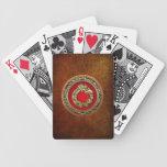 [100] Serpent God Quetzalcoatl [Gold] Bicycle Poker Cards