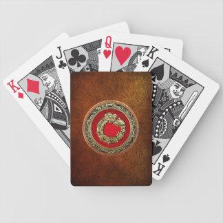 100 Serpent God Quetzalcoatl Gold Bicycle Poker Cards