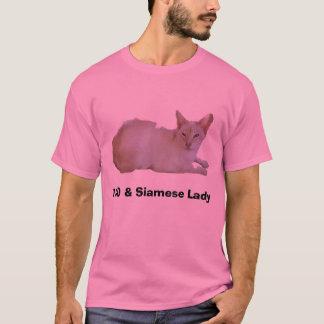 100 % Siamese Lady T-Shirt