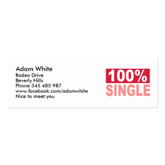 100% Single Double-Sided Mini Business Cards (Pack Of 20)