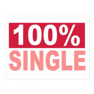 100% Single Postcard