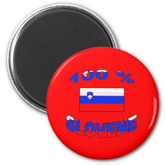 100% Slovene 2 Inch Round Magnet