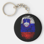 100% Slovenian from my DNA to my fingerprints Keychains