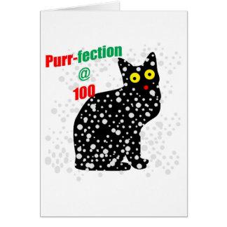 100 Snow Cat Purr-fection Card