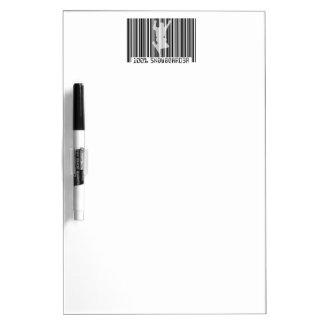 100% SNOWBOARDER 2 black barcode Dry Erase Board