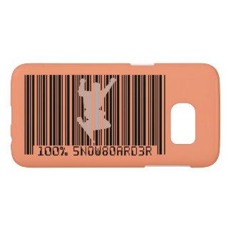 100% SNOWBOARDER 2 black barcode Samsung Galaxy S7 Case