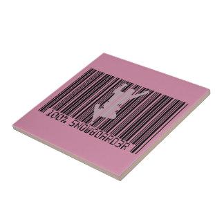 100% SNOWBOARDER 2 black barcode Tile