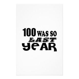 100 So Was So Last Year Birthday Designs Stationery