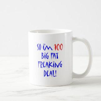 100 soy tan 100… taza de café