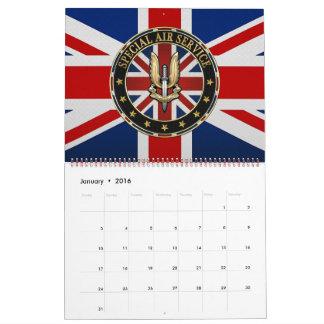 [100] Special Air Service (SAS) Badge [3D] Calendar