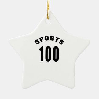 100 Sports Birthday Designs Double-Sided Star Ceramic Christmas Ornament