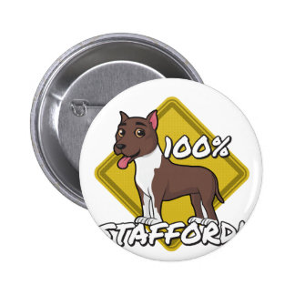 100% Stafford Pinback Button