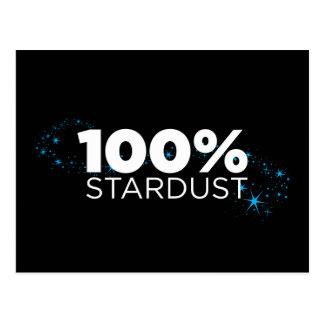 100% Stardust Postcard