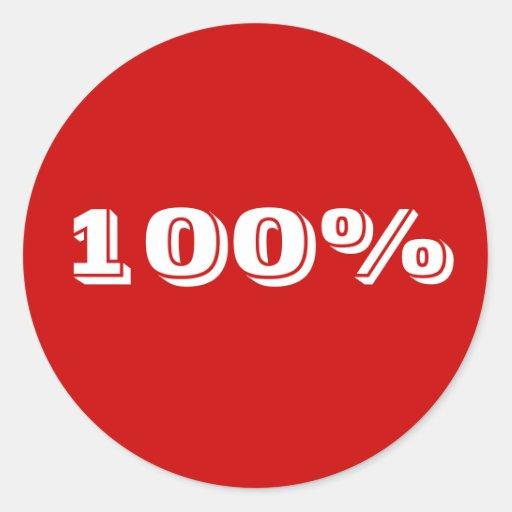 100% sticker