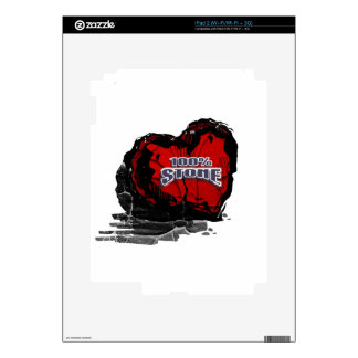 100% Stone Heart Decal For iPad 2