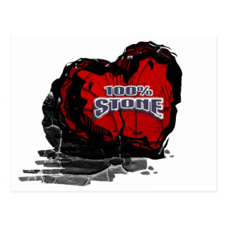 100% Stone Heart Postcard