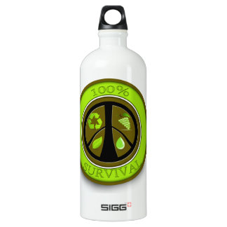100% Survival Prepper Eco Design Aluminum Water Bottle