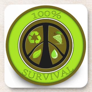 100% Survival Prepper Eco Design Drink Coaster