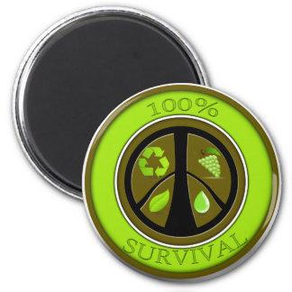 100% Survival Prepper Eco Design Magnet