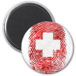 100% Swiss DNA fingerprint Switzerland flag gifts Refrigerator Magnets