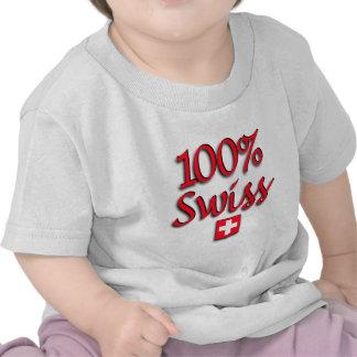 100% Swiss Kids Tee Shirts