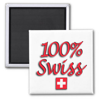 100% Swiss Sq Magnet
