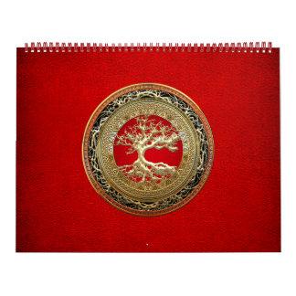 [100] Tesoro: Árbol de la vida céltico [oro] Calendario