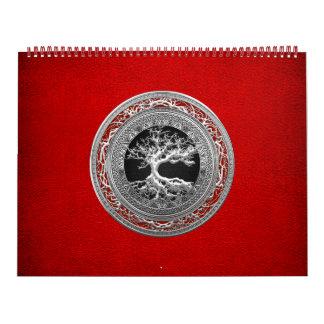 [100] Tesoro: Árbol de la vida céltico [plata] Calendarios De Pared
